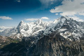 Eiger Monch and Jungfrau — Stock Photo