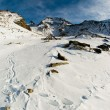 Scenic view of alps at Kreuboden — Stock Photo
