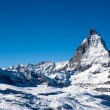 Foto Stock: Matterhorn in winter