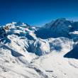 Stock Photo: Monte Rosand Lyskamm in Winter
