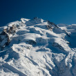 Monte rosa in winter — Stock Photo