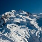 Monte rosa in winter — Stock Photo