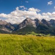 Mountain range above Scuol — Stock Photo