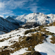 Saas Fee panorama — Stock Photo