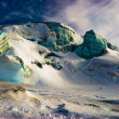 Stock Photo: Surreal ice structures in high alps.