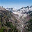 Stock Photo: Tail of aletsch glacier