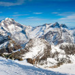 Stock Photo: Weissmies mountain peak in winter