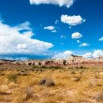 Utah sandstone cliff panorama — Stock Photo