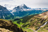 Grindelwald valley and Eiger — Stock Photo