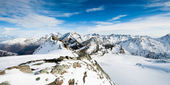 Mountain panorama from Mittelallalin — Stock Photo