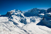 Monte Rosa and Lyskamm in Winter — Stock Photo