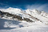 Saas Fee mountain range — Stock Photo