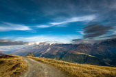 Wide angle view from Fiescheralp — Stock Photo