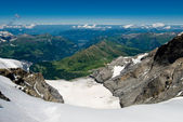 Wide angle view from Jungfraujoch — Stock Photo