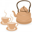 Teapot — Stock Vector