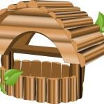 Nesting box — Stock Vector
