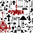 Royalty-Free Stock Vectorielle: Lamps and chandeliers