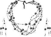 Black pearls — Stock Vector