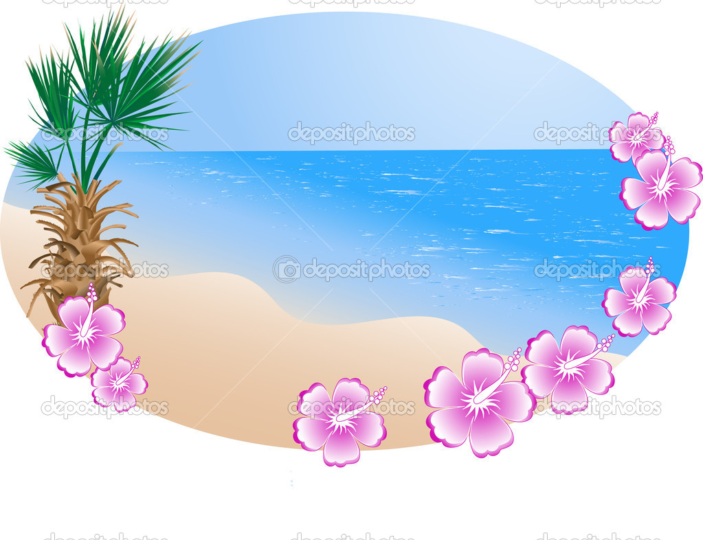 summer beach in frame stock vector sarininka 2346482