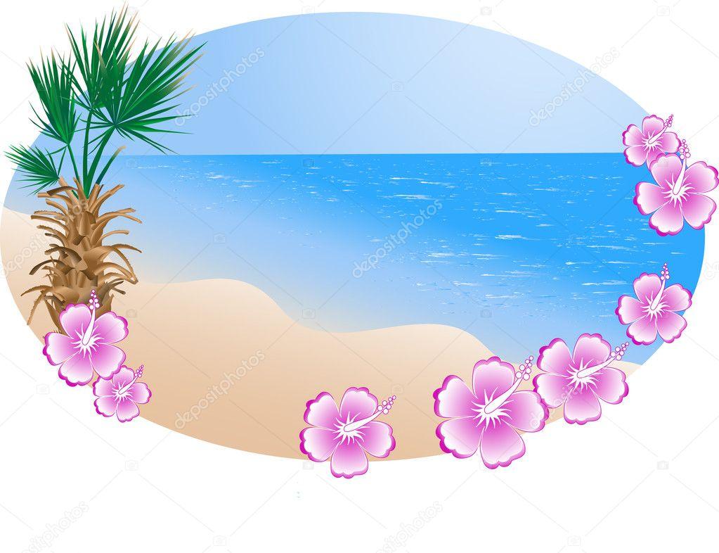 summer beach in frame stock vector sarininka 2346482
