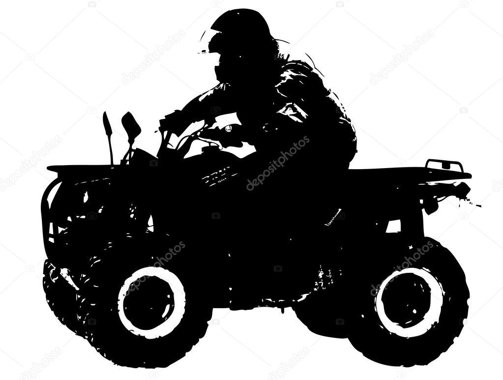 Vector illustration of four wheeler biker — Stock Vector #2346889