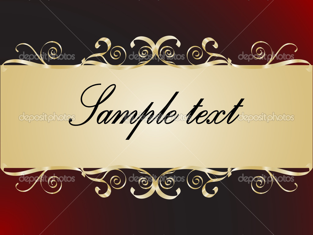 Abstract golden frame for your text — Stock Vector #2348991