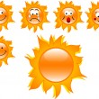 Stock Vector: Cartoon suns