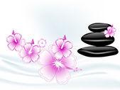 Wellness stones — Stock Vector