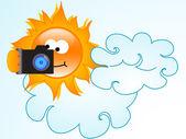Sun photographs — Stock Vector