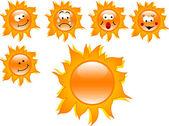 Cartoon suns — Stock Vector