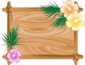 Wooden frame — Stock Vector