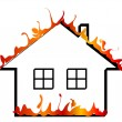 Burning home — Stock Vector #2420961