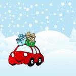 Cartoon car — Stock Vector #2421340