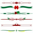 Christmas borders - Stock Vector