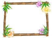 Bamboo frame — Stock Vector