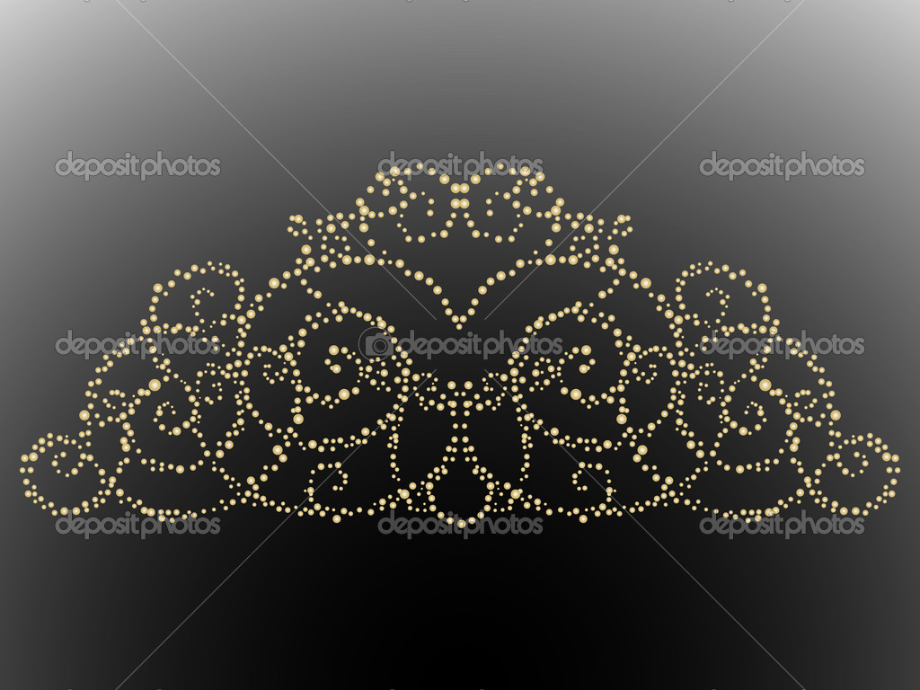 Golden crown on black background — Stock Vector #2421013