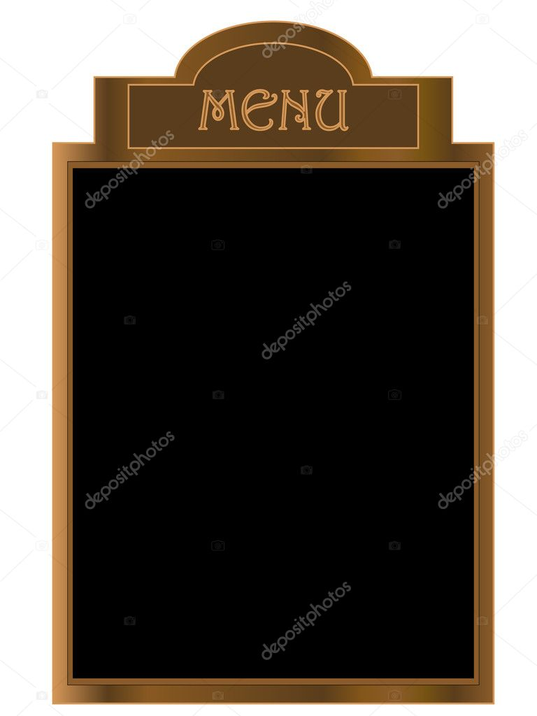 Black menu board - vector illustration — Stock Vector #2421535