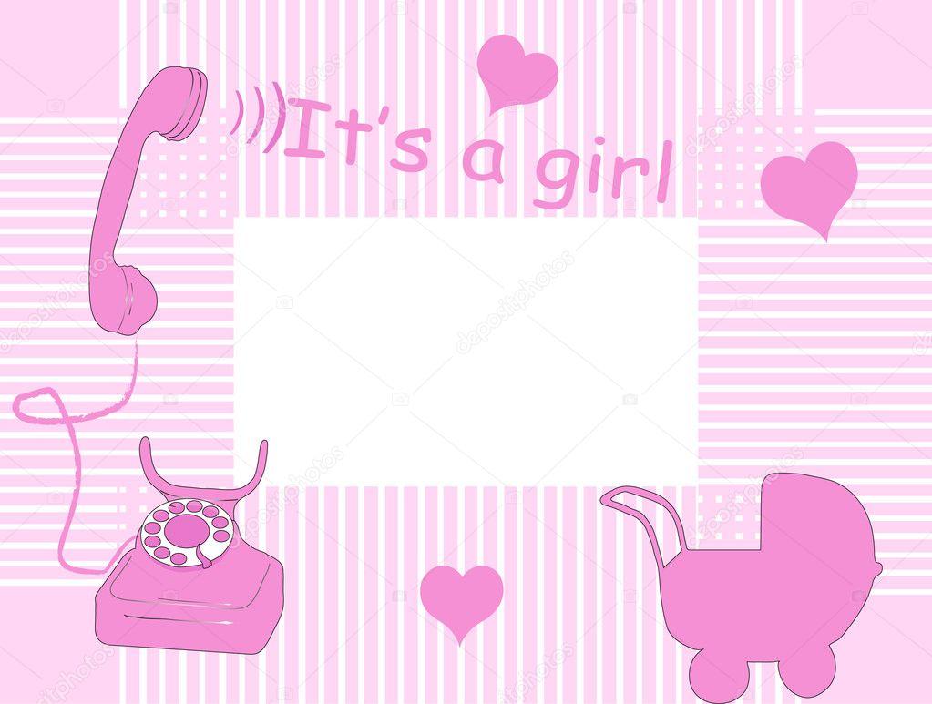 Baby arrival card — Stock Vector © sarininka #2424639
