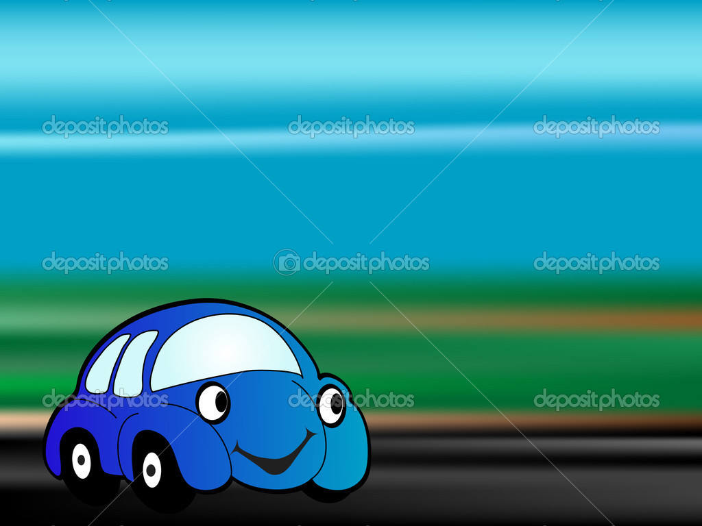 Speed cartoon car - vector illustration — Stock Vector #2424995