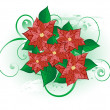 Stock Vector: Christmas flower