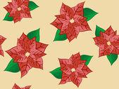 Christmas flower — Stock Vector