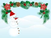 рождественский венок — Cтоковый вектор