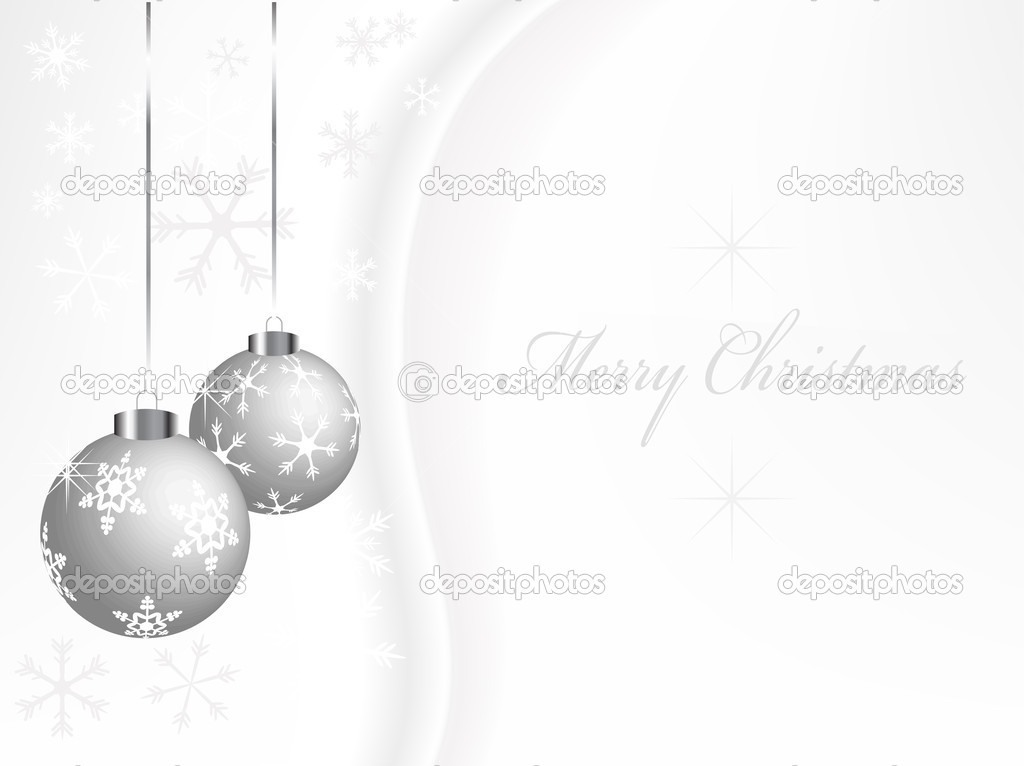 Christmas abstract background  with balls - vector illustration — Stock Vector #2530289