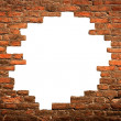 Royalty-Free Stock Photo: White hole in old wall, brick frame