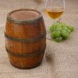 Old barrel with glass of wine — Stock Photo #2417776