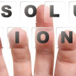 Royalty-Free Stock Photo: Finger on buttons Solution