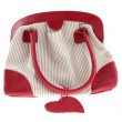 Red striped female handbag - Stock Photo