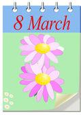 March 8, calendar — Stock Photo