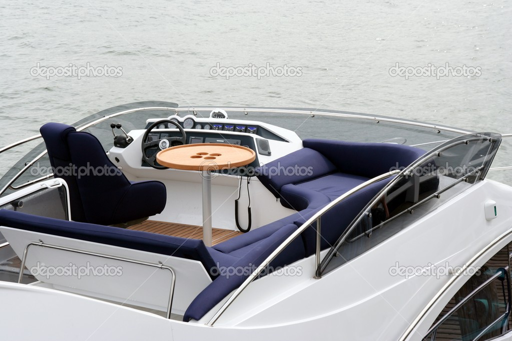 Top deck in luxury yacht, place of rest  Stock Photo #2421920