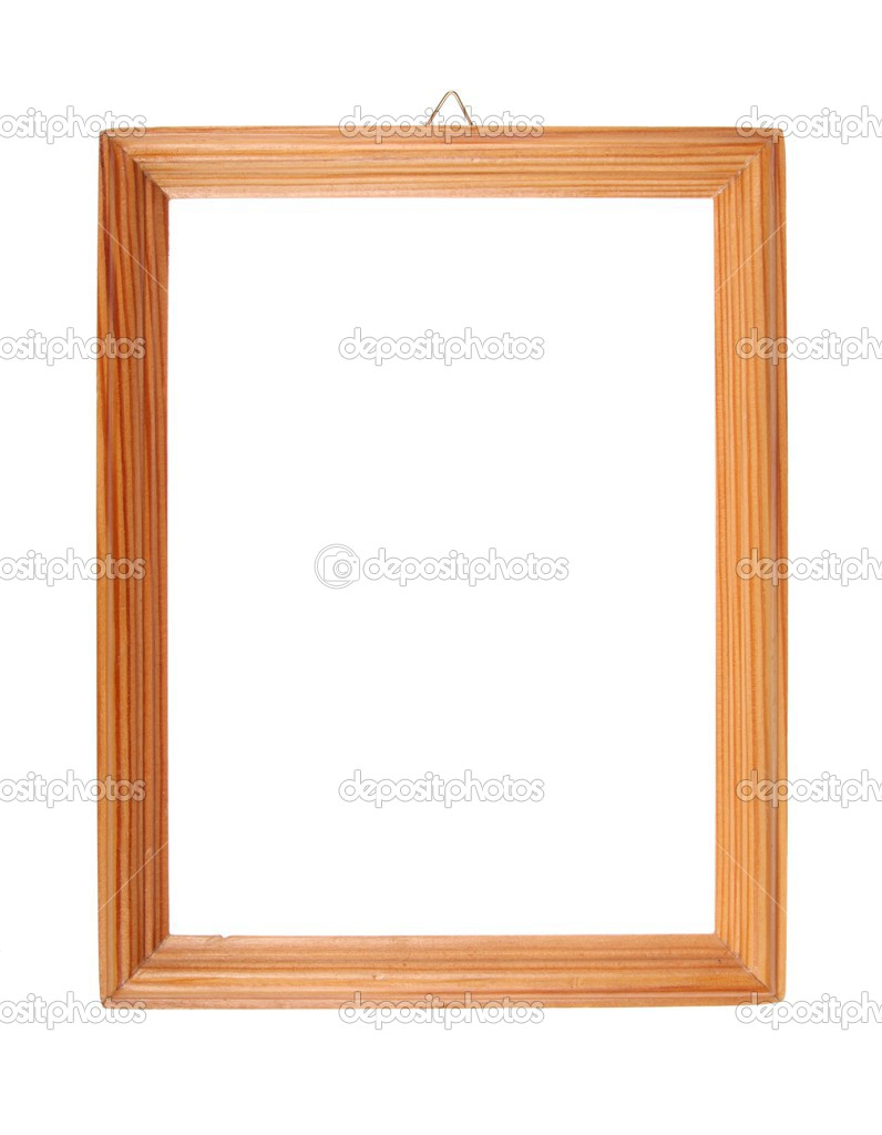 Simple wooden picture frame — Stock Photo © tombaky #2423199
